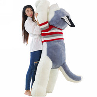 Fancytrader 71'' / 180cm Biggest Giant Plush Stuffed Husky Dog Toy, Nice Gift for Kids and Friends, Free Shipping FT50129