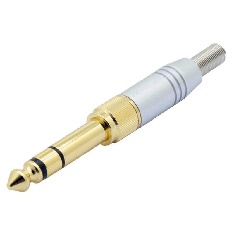 2 в 1 Алюминиевый комплект провода разъем позолоченный Аудио разъем для динамиков с пружиной 3,5 мм Винт Разъем для jack 6,35 штекер