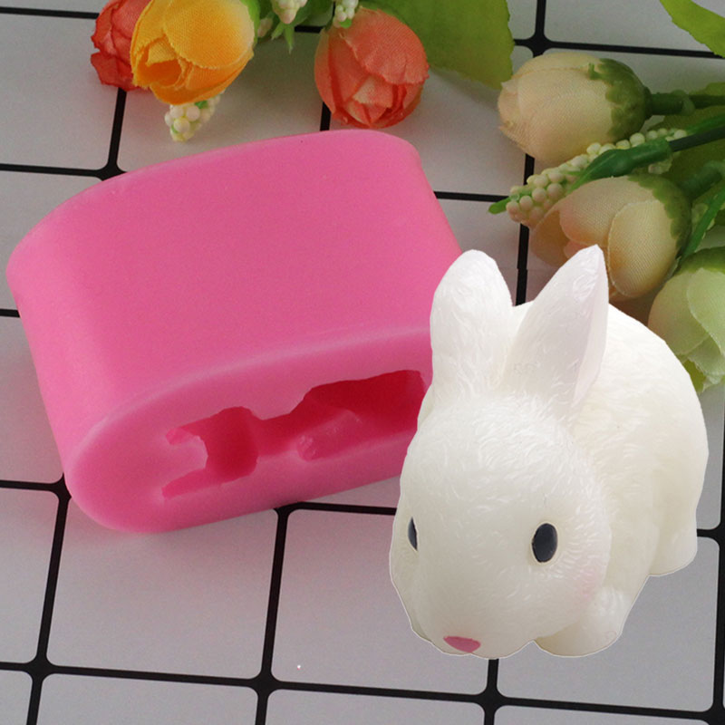 Clay Extruders 3d Craft Easter Rabbit Soap Silicone Mold Fondant Chocolate Candy Resin Polymer Clay Mold Cake Decorating Kitchen Baking Molds Pottery & Ceramics