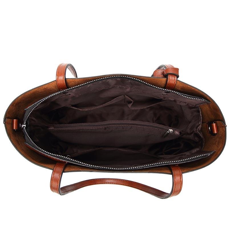 Style européen et américain Sacs à main en cuir rétro grande - Des sacs - Photo 6