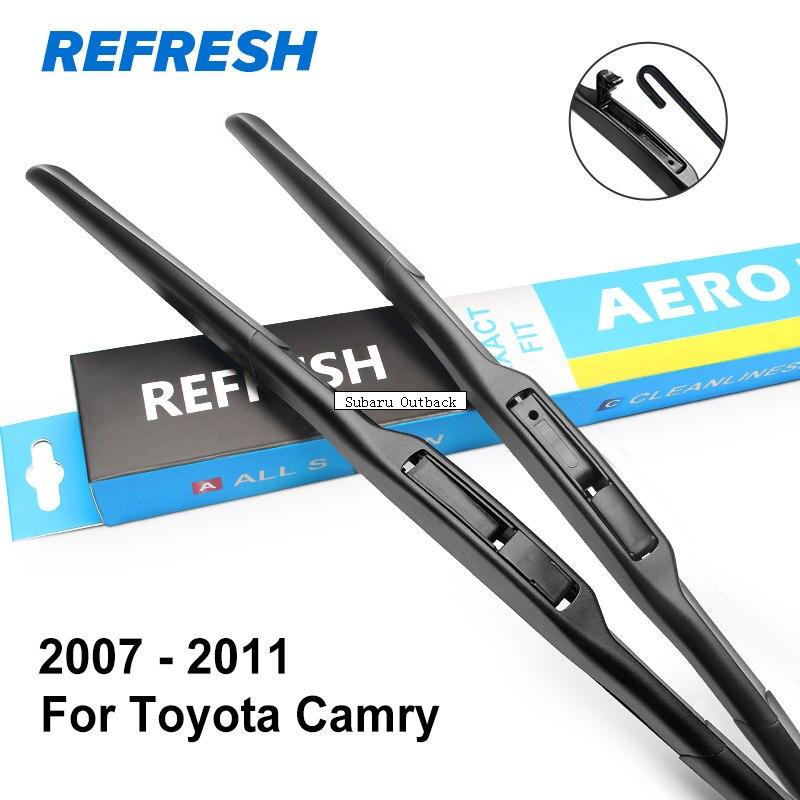 REFRESH Гибридный Щетки стеклоочистителя для Toyota Camry Fit Hook Arms Модельный год с 1997 по год - Цвет: 2007 - 2011