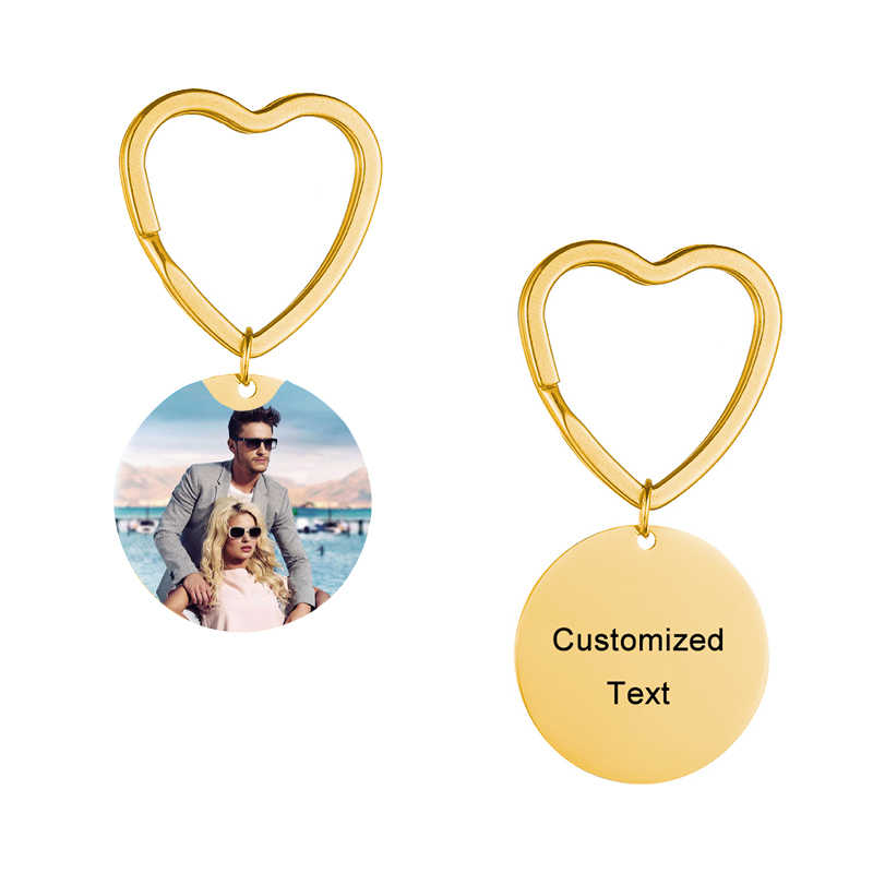 Popular Personalized keychain handmade personality photo Couple family baby child dad mom brother sister pet family portrait