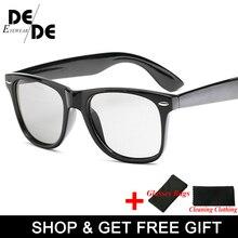 Hot Sale Driving Photochromic Sunglasses Polarized Chameleon Discoloration Day And Night Retro Sun glasses for Men Women Goggles
