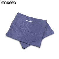 ENKEEO 190x170 Cm Sleeping Bag Zippable Lightweight Compact And Waterproof Sleeping Bag For Camping Outdoors Hiking