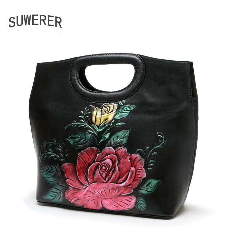 2018 New Women Genuine Leather bag luxury handbags women bags designer top Cowhide women bags handbags women famous brands