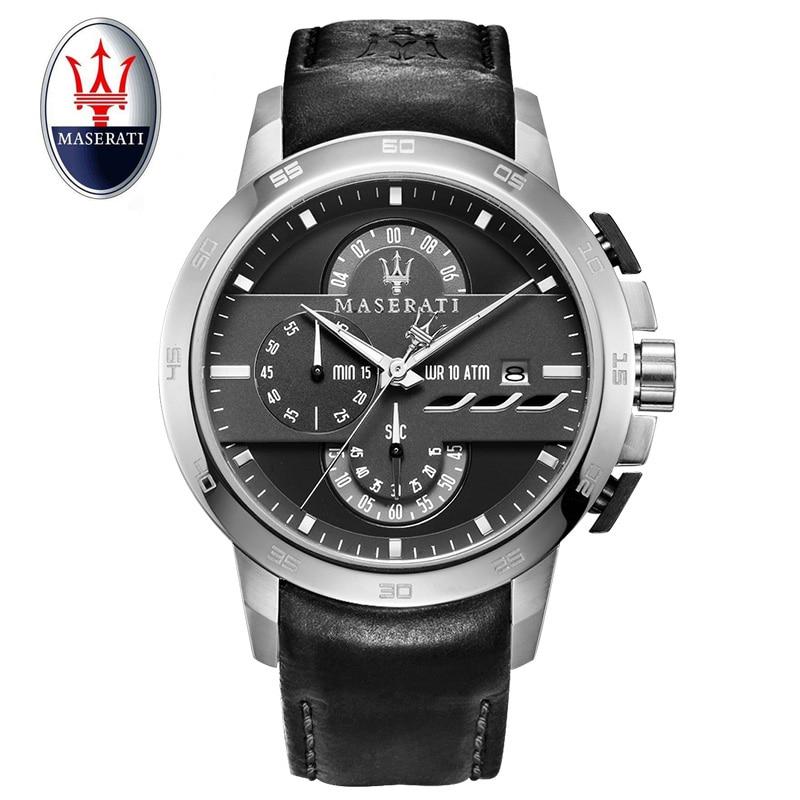 Maserati merk mannen mechanische horloges lederen automatische - Herenhorloges