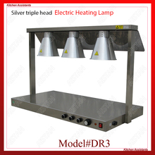 DR3/DR4 electric counter top food warmer heating lamp for buffet and restaurant dz 2 warming lamp 2 head lamp hotel buffet professional heating machine
