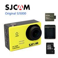Бесплатная Доставка! оригинальный sj5000 SJCAM 1080 P Full HD Спорт действий Камера + дополнительная 1 шт. Батарея + Батарея Зарядное устройство + 16 ГБ TF к