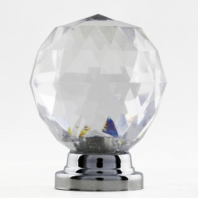 Frete Grátis Novo 10 Pçs/set Diam 30mm Redonda Bola De Vidro De Cristal Design Acrílico Maçanetas Handle