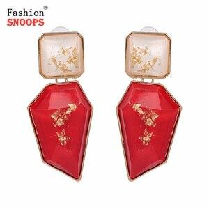 W stylu Vintage kryształ kolczyki dla kobiet luksusowe Rhinestone spadek kolczyki oświadczenie kolczyk biżuteria