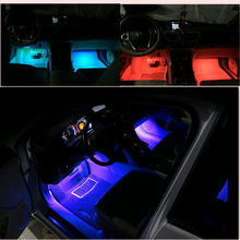 2020 New fashion CAR Styling Colorful LED Ambient Light FOR Audi A3 A4 B6 B8 A6 C5 C6 80 B5 B7 A5 Q5 Q7 TT 8P 100 8L C7 8V A1 A3(China)