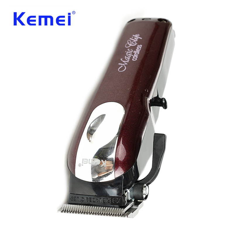 Kemei Professional Electric Hair Trimmer Powerful Cordless Adjustable Clipper  Shaver Razor Hair Cutting Machine With Limit Comb pritech hair trimmer for men electric shaver beard clipper tungsten steel razor with 4 limit comb hair cutting machine pr 1706