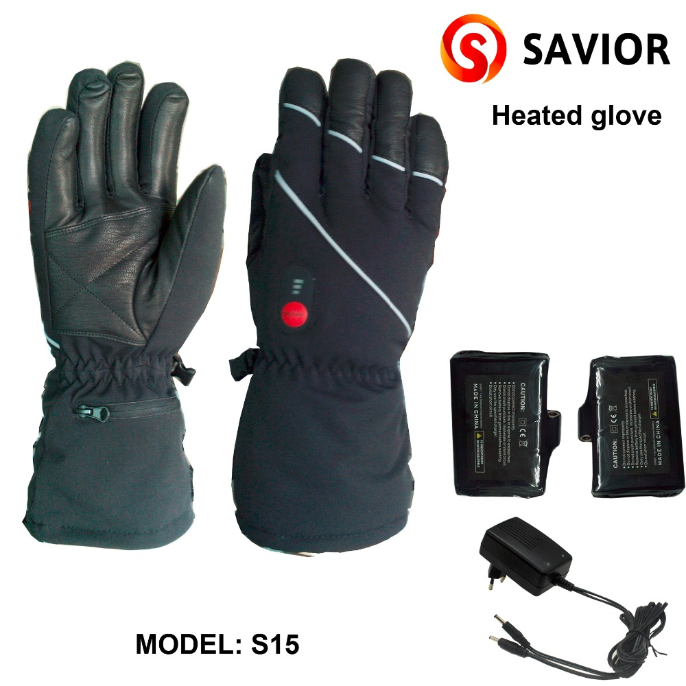 SAVIOR Rechargeable Battery Heating Gloves Use for Skiing,Winter ...