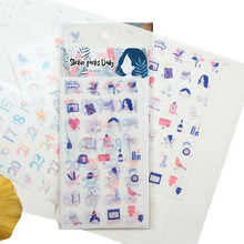 12packs/lot Adhesive Sticker Packs Daily Stationery Scrapbooking Label DIY Bookmark Gifts For Kids Wholesale