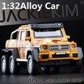 1:32 modelos de automóviles de aleación, alta simulación SUV benz G63AMG juguete, metal a troquel, tire hacia atrás y intermitente y musical, envío gratis