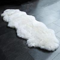 Home garnish rugs long fur no shed real sheepskin area rugs floor mat for living room bedroom decor thickened no slip back rugs