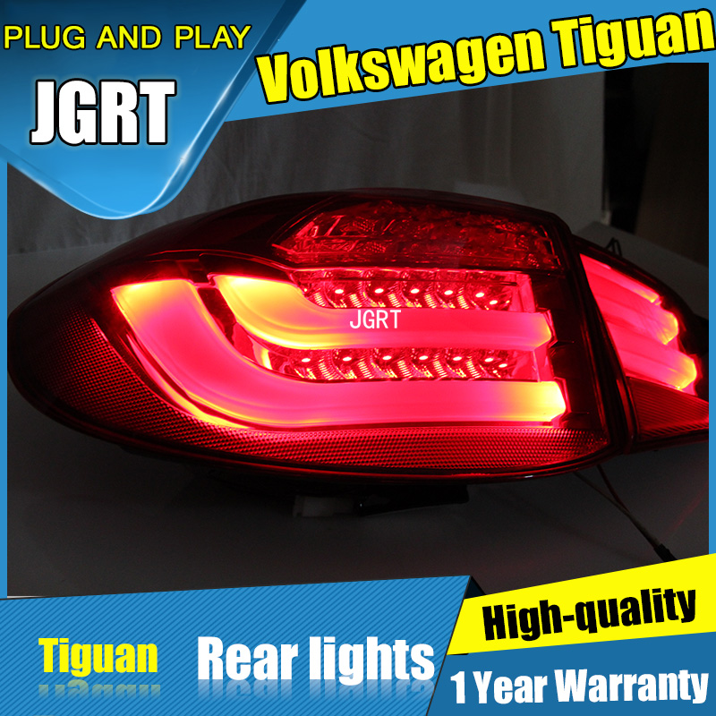 4PCS Car Styling for VW Tiguan Tail Lights 2010-2012  for Tiguan  LED Tail Lamp+Turn Signal+Brake+Reverse LED light hot sale abs chromed front behind fog lamp cover 2pcs set car accessories for volkswagen vw tiguan 2010 2011 2012 2013