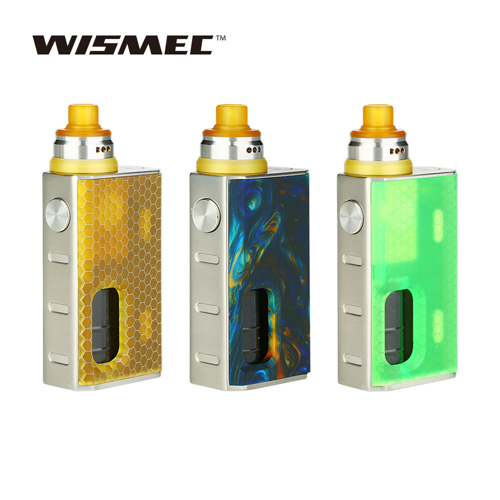 D'origine Wismec LUXOTIC BF Squonker Kit W/7.5 ml Bouteille Squeeze Luxotic BF BOÎTE Tobhino BF RDA Nouveau Squonker Kit avec Tobhino Vaporisateur