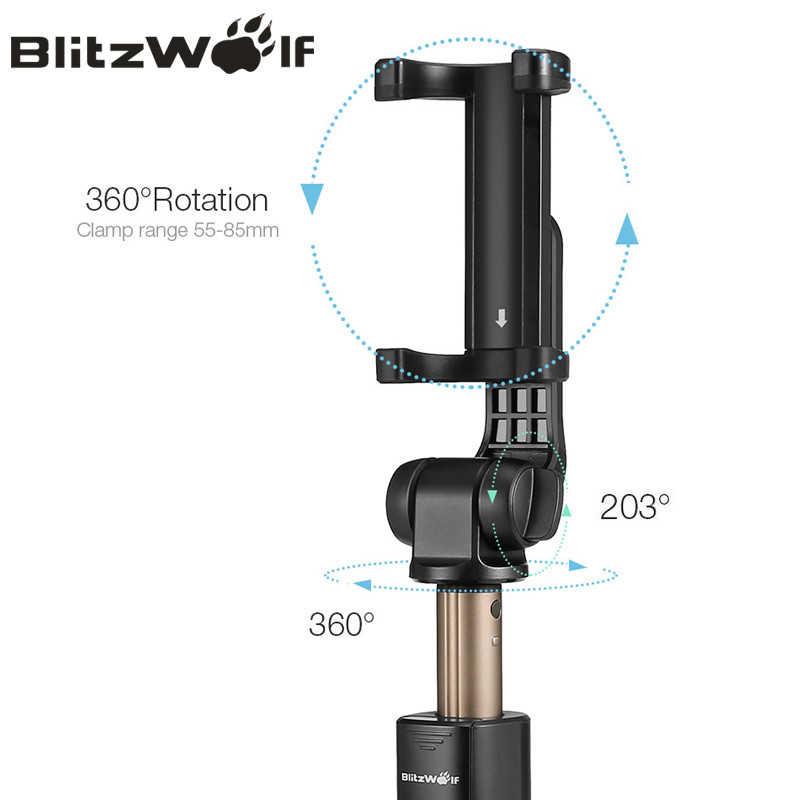 BlitzWolf BW-BS3 3 в 1 беспроводной bluetooth селфи палка штатив мини выдвижной монопод универсальный для iPhone для samsung стабильный