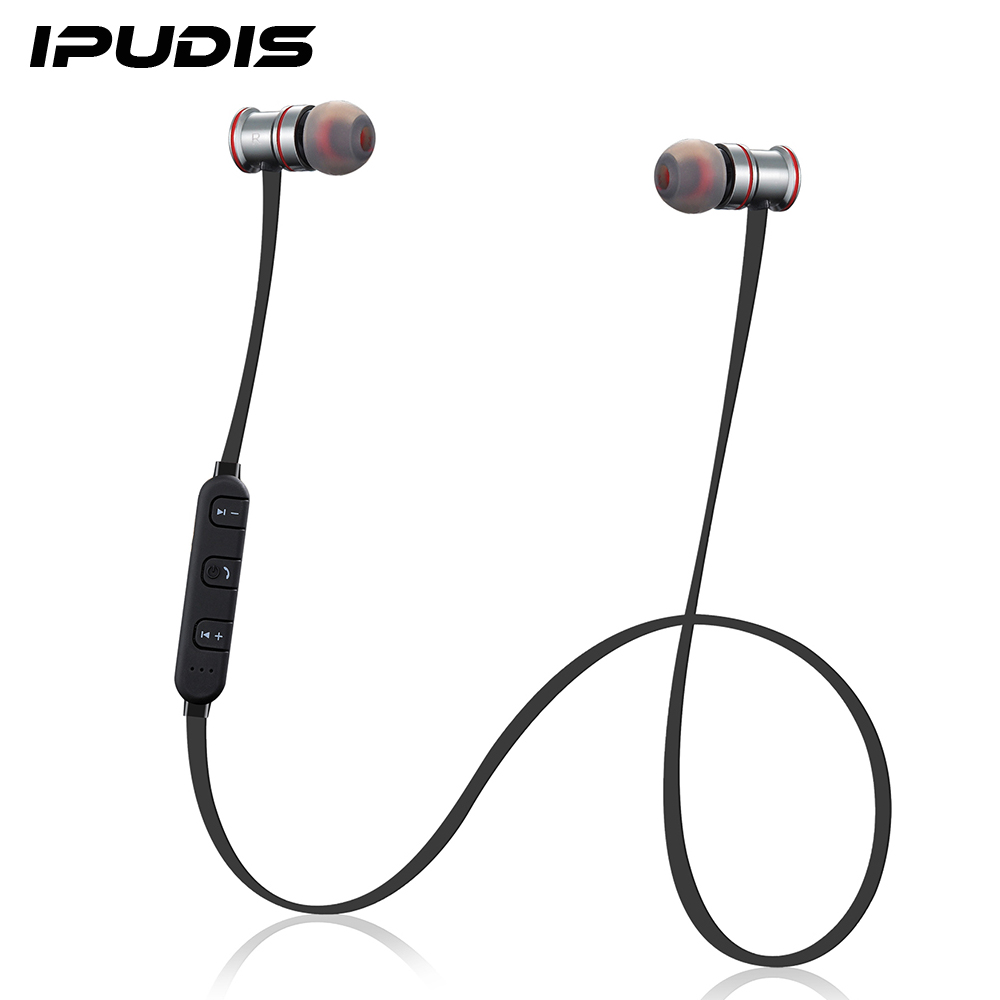 buy ipudis magnet metal sports bluetooth earphone wireless earbud stereo. Black Bedroom Furniture Sets. Home Design Ideas
