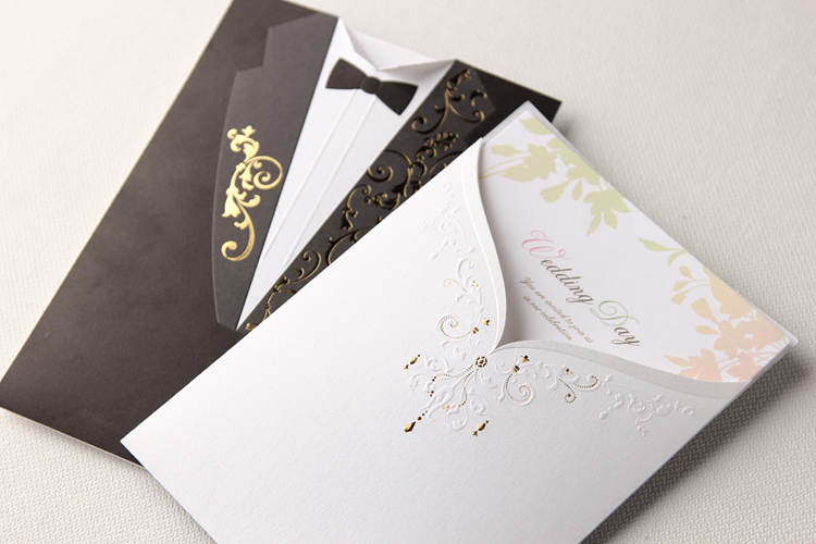 Aliexpress Buy Black and White Pocket Wedding Invitation – Unique Wedding Invitation Cards