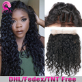 8A Grade Pre Plucked 360 Frontal Brazilian Water Wave 360 Lace Frontal Closure Virgin Human Hair Bleached Knots 360 frontal Band
