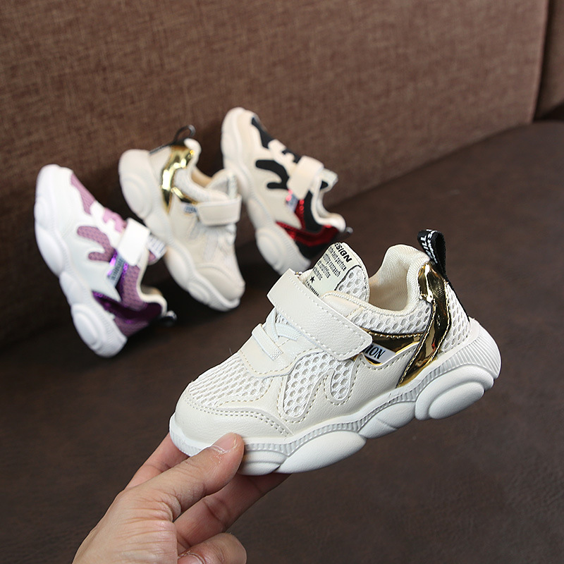 2019 Summer New Arrivals Girls Sneakers Shoes For Kids Boys Sports Shoes Breathable Fashion Casual Boys Sneakers Shoes For Baby