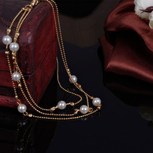 Multilayer Chain Pearl Women's Anklet
