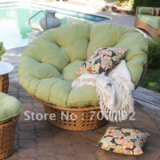 Online Shop All Weather Wicker Outdoor Papasan Chair Set