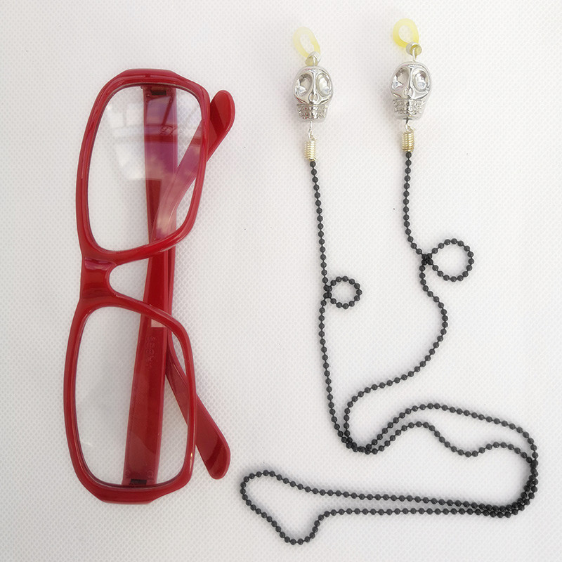 Black Butler Grell Sutcliff Red Skull Chain Glasses//Wig Cosplay Accessories Prop