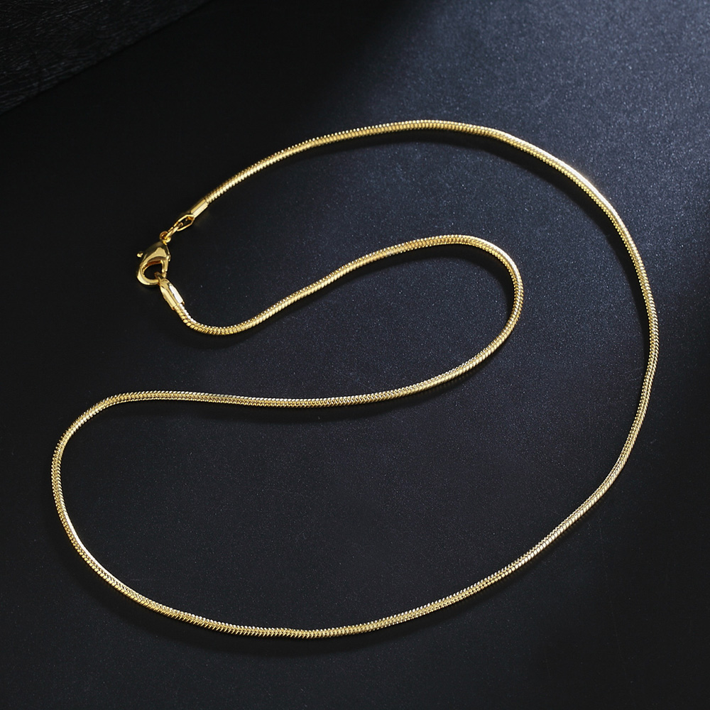 "Wholesale 10PCS 16-30/"" 18K Yellow GOLD Filled Smooth CHAIN NECKLACES For Pendant"