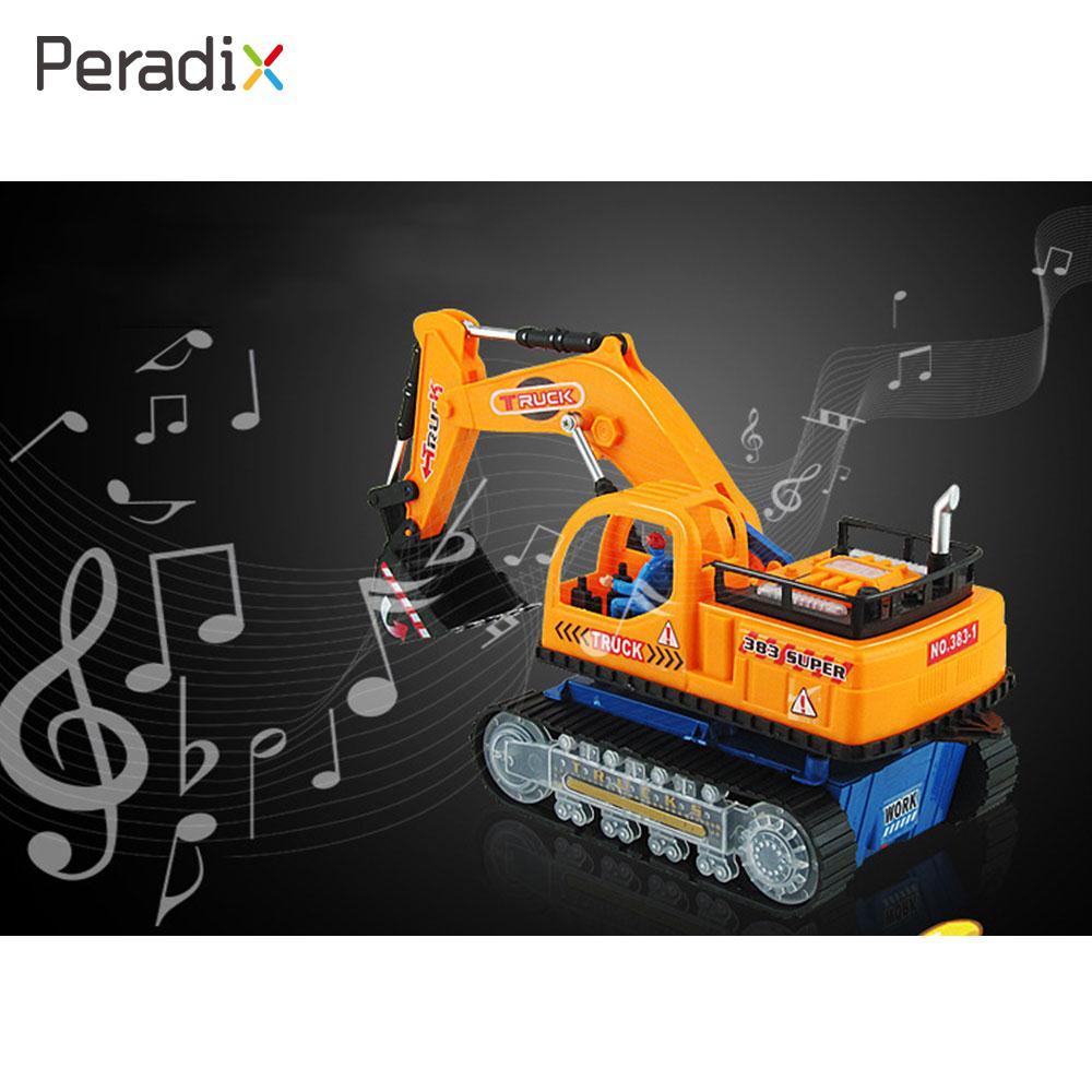 Excavator Model Fun Mini Car Model Plastic Flashing Music Excavator Kids Funny Toys