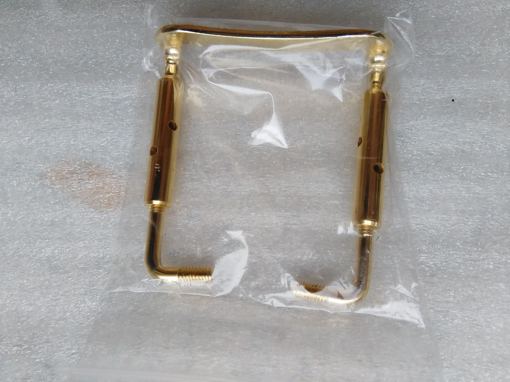 8 PCs Quality Brand New Gold Color Violin Chin rest Clamp Violin parts for 3 4 to 4 4 in Violin Parts Accessories from Sports Entertainment