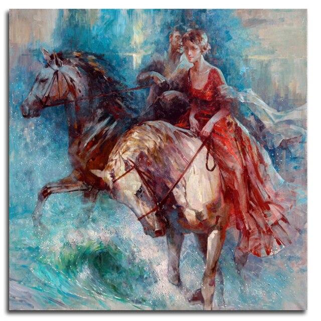 Verwonderend Juli Diamant Borduurwerk Vrouw een paard 5d diy diamant schilderij OK-17