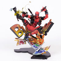 Hot Film Comic Marvel Super Hero Statue Wade Wilson Deadpool Breaking The Fourth Wall GSC Figure Collectible Model Toy