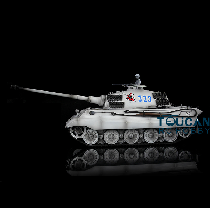 2.4Ghz HengLong 1/16 Scale Winter Snow Plastic Ver German King Tiger RTR RC Tank Model 3888A все цены
