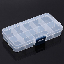 10 Grids Adjustable Transparent Plastic Storage Box for Small Component Jewelry Tool Box Bead Pills Organizer Nail Art Tip Case cheap Storage Boxes Bins News Modern Jewelry Box Rectangle Eco-Friendly Folding 5kgs 13*6 5*2 3cm As show