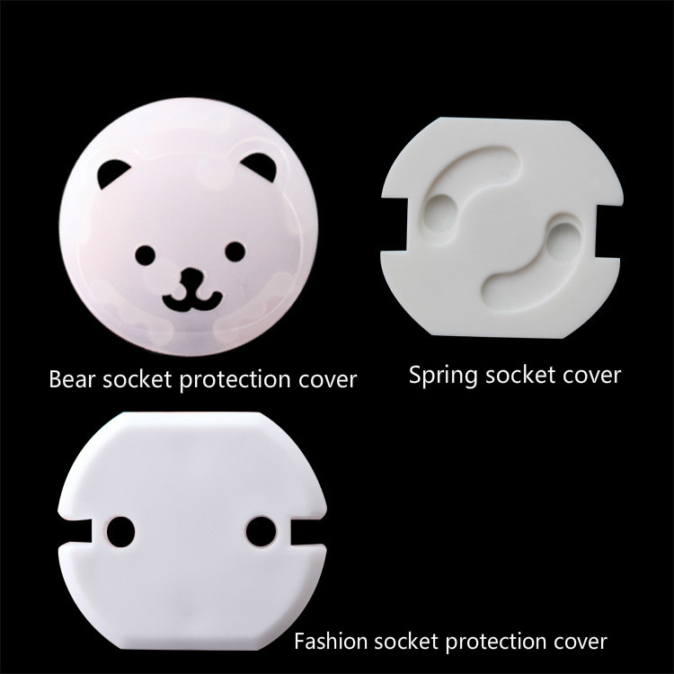 Hot Selling 5pcs EU Power Socket Electrical Outlet Baby Safety Guard Protection Anti Electric Shock Plugs Protector Cover