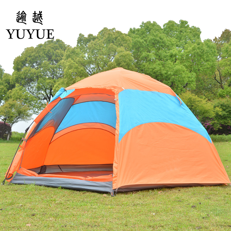 3-4 person waterproof pop up tent for winter fishing hiking outdoor Camping Tent Waterproof family party tent no-see-um mesh 1