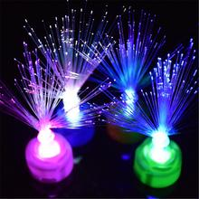 Color Changing Fiber Optic LED Night Light Lamp Home Decor Holiday Party Gift #01 gift valentine s day beautiful autism calming sensory led light lamp multicolour fibre optic ice relax changing