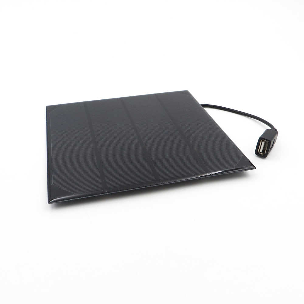 Outdoor USB Solar Panel Battery Charger 2W 3W 3.5W 4.5W 6W 6V with 30cm cable For Mobile Phone Polycrystalline Solar Cell DIY