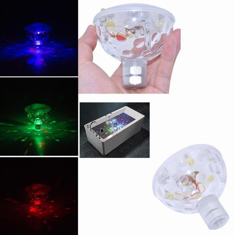 Fashion Color LED Underwater Light Float Spa Bathtub Pond Swimming Pool LED  Light Disco Holiday Indoor