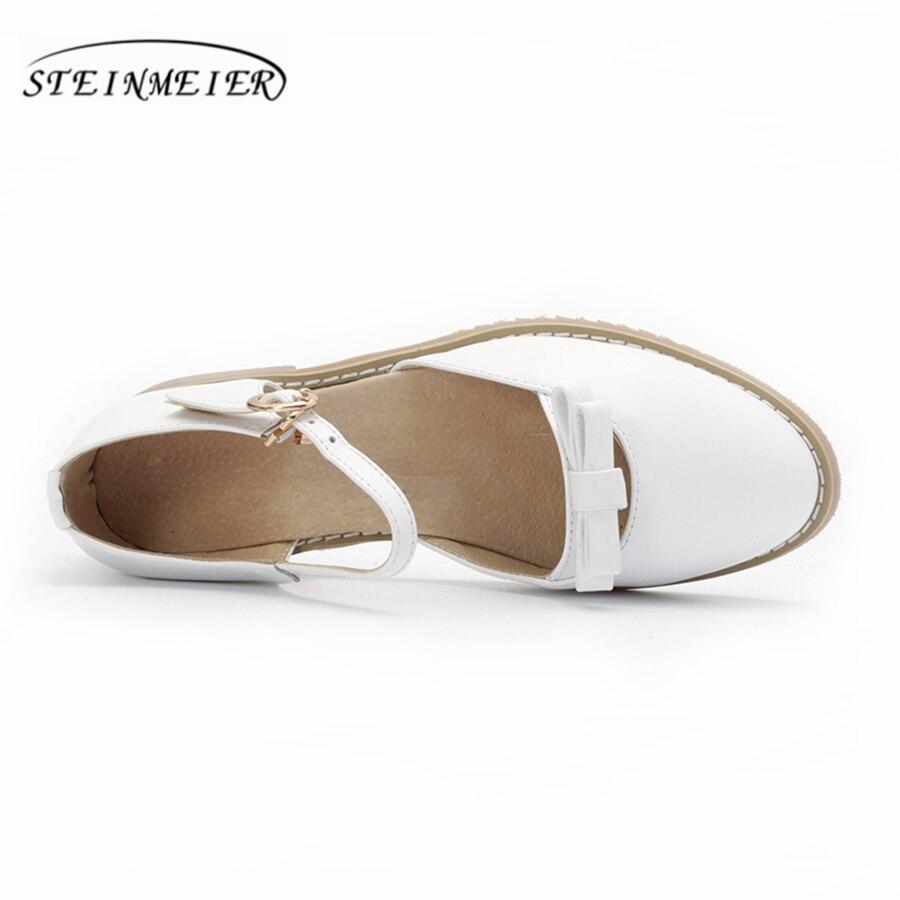 Véritable 2018 Cuir Oxford Main white other Pour En Plat D'été Color Chaussures La Boucle White Bout À Rond Blanc Femmes 5cm Sandales Flat dSqw6dx