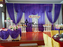 New Designs Wedding Backdrop CurtainWedding Drape Free Shipping