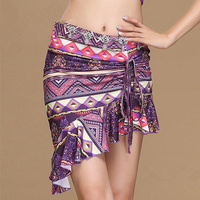 More Colors 2017 New Women Bellydance Clothes Fishtail Skirts Professional Wrapped Spandex Belly Dance Short Skirts