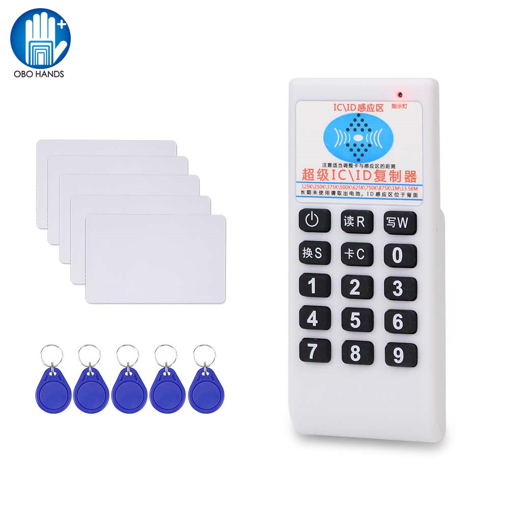 Handheld 125KHz RFID Copier Duplicator Card Reader Writer 13.56MHz USB Cloner Key Fob Programmer Rewritable T5577 UID Writable