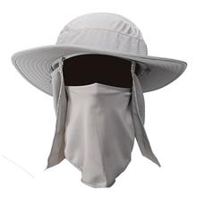 7aa1a23ac97 Summer Sun Cap Outdoor Men Women Large Brim Sun Block Quick Drying Fishing  Hats For Travel Climbing Fisherman Bucket Hat