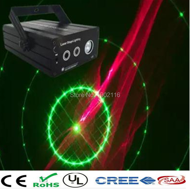ФОТО 48 Patterns 3lens RG Mini Laser Projector Stage Lighting Red Green DJ Disco Party Club Bar Show Light LED Blue Stage Light