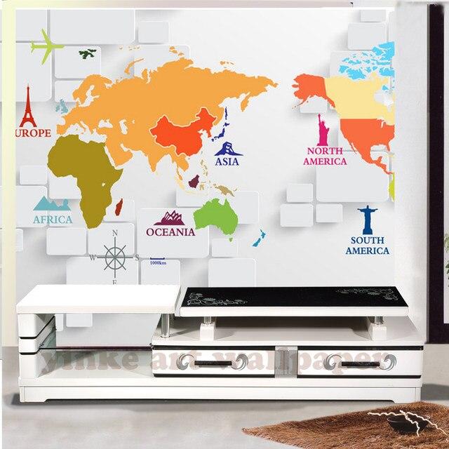 Online Shop World Map Wallpaper For Bedroom Modern Design Living - World map wallpaper south africa