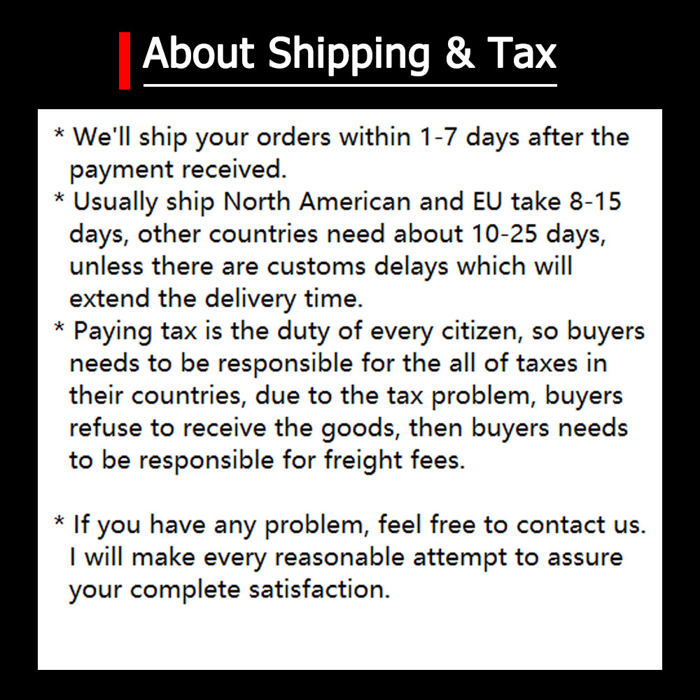 about shipping & tax